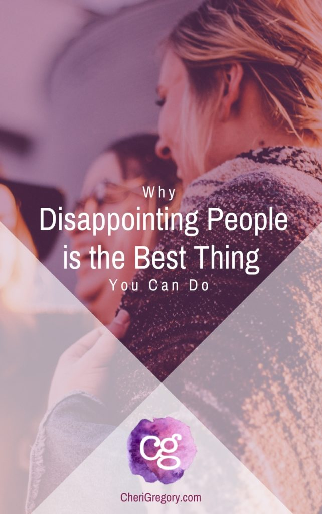 disappointing people