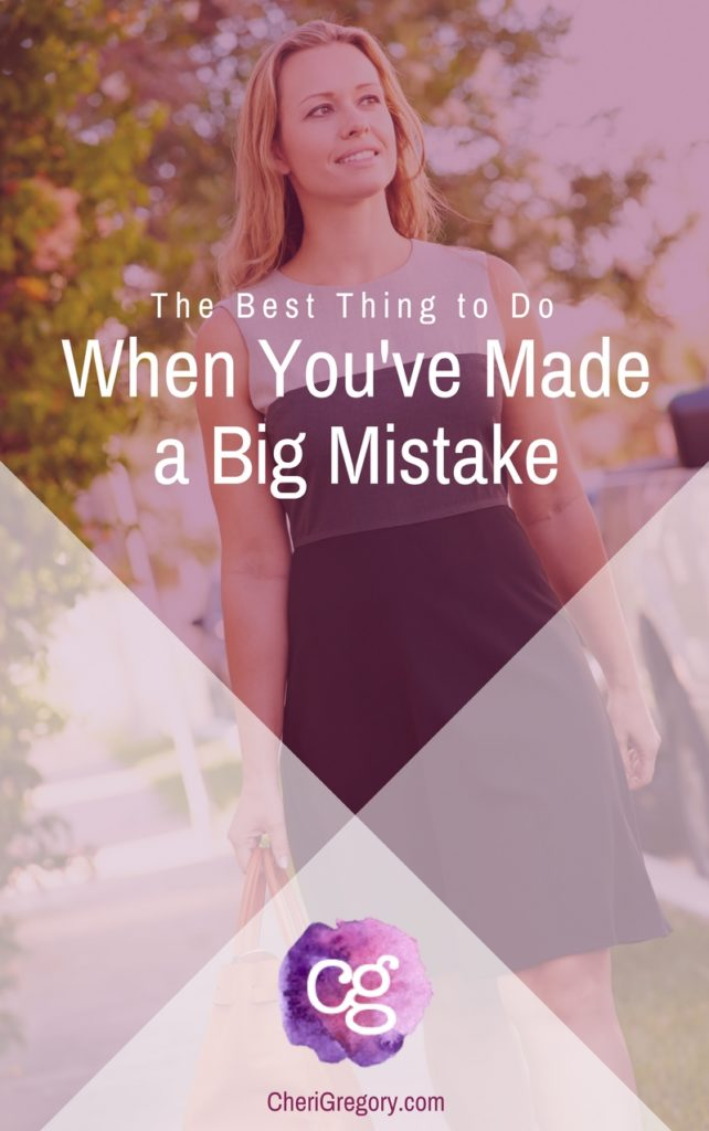 The Best Thing to Do When You've Made a Mistake